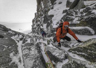 Avec Stéphane le 31 décembre pour la goulotte Pellissier, Pointe Lachenal, Mont Blanc, seul au monde
