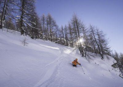 Une journée par risque 4 en Italie, dans le Val d'Aoste : en restant dans les pentes pas raides