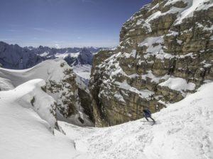 ski randonnée unique Dolomites