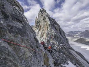 Obergabelhorn Zinalrothorn Weisshorn en alpinisme