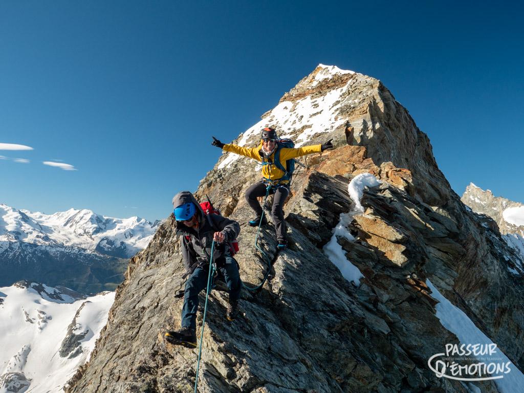 Schallihorn, sommet et traversée peu connus, tout ça parce qu'il est juste en dessous de 4000m ?