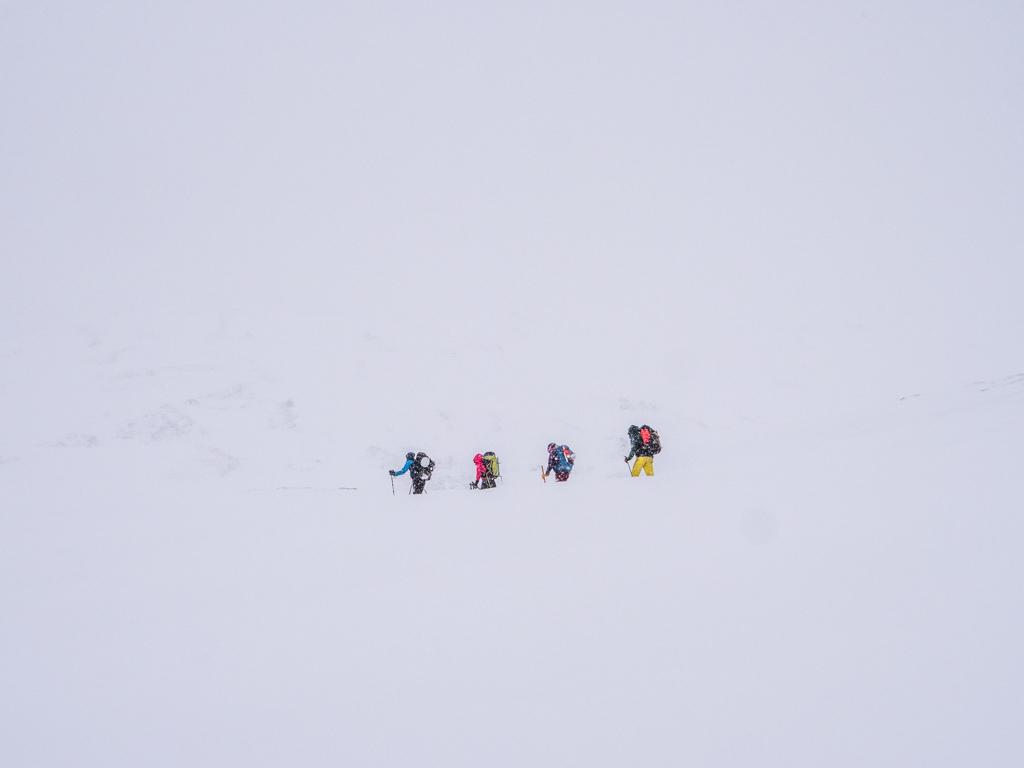 La météo avait vu juste : mauvais temps et visibilité quasi nulle pour cette dernière journée.
