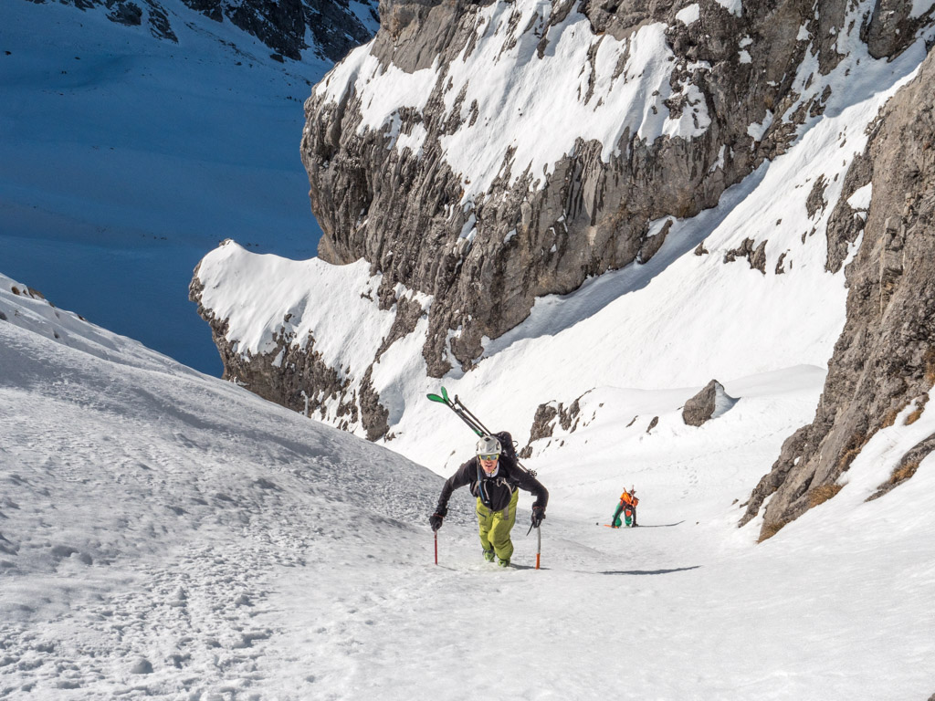 Ski raide dans les Aravis