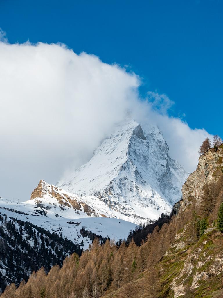 Journée finale à Zermatt pour profiter d'un créneau de beau.